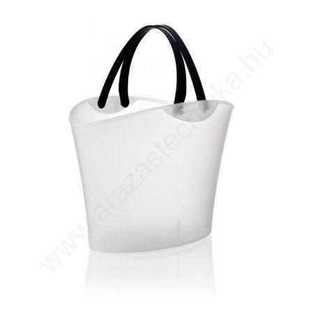 Bevásárló kosár Mini Shophie 6L  átlátszó fehér