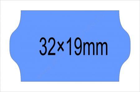 32×19mm kék OLASZ árazószalag