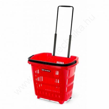 34 L Gurulós bevásárló kosár (34 literes) piros