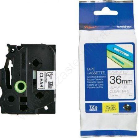 36mm Brother TZe-161 szalag átlátszó/fekete