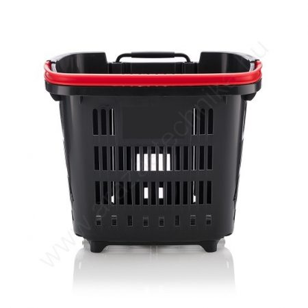 34 L Gurulós bevásárló kosár (34 literes) antracit - piros fül
