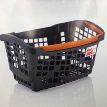 Bevásárló kosár 20L - Design COLOR - NARANCS fül