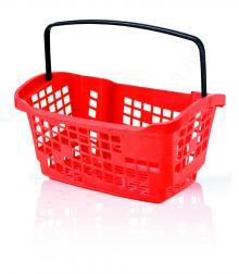 Bevásárló kosár 20L - piros Design - FEKETE fül