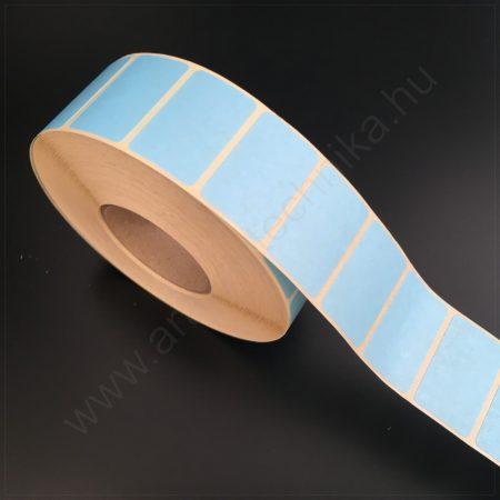32x20 mm TT papír címke-  KÉK - REM.visszaszedhető