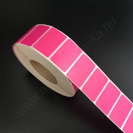 32x20 mm TT papír címke-  PINK - REM.visszaszedhető