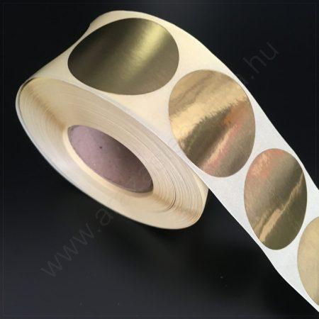38 mm ARANY papír körcímke  (1000 db/tek)