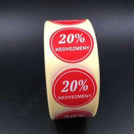 30 mm körcímke -20% kedvezmény