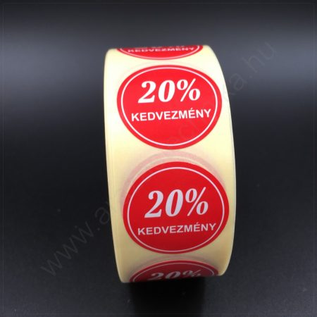 30mm körcímke -20% kedvezmény