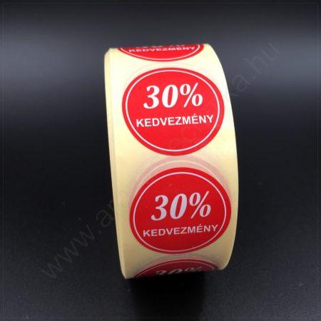 30mm körcímke -30% kedvezmény