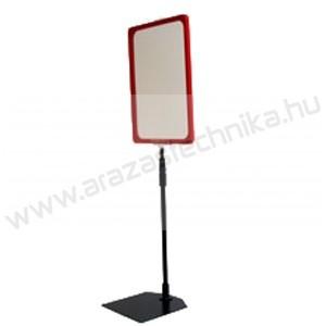 Információs állvány - A4 plakátkeret + (kihúzható SZÁR 2*50 cm) + PVC lapvédő fólia