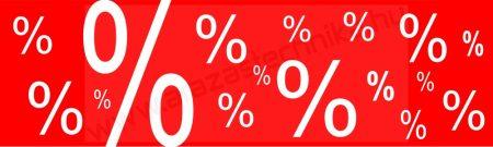 Molinó 100×30 cm - SZÁZALÉK % % %