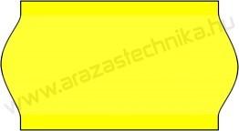 22x12mm METO fluo citrom árazócímke (5) hűtőházi