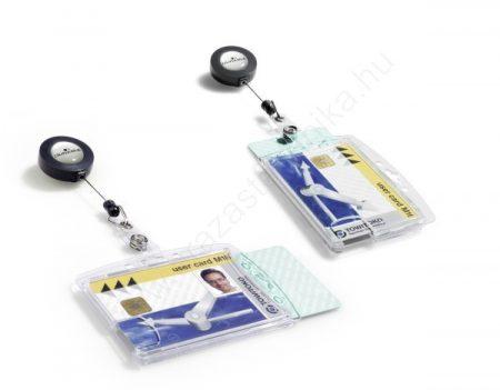 Biztonsági kártyatartó AKRIL tok DUO - zárt (8224) csipeszes kihúzható tartóval
