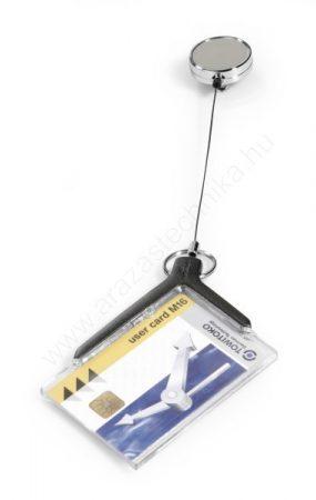 Kártyatartó DURABLE (8307-58) De Luxe MONO, krómozott kihúzható tartóval