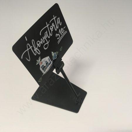 Árcímke tartó TALPAS A7 fekete krétatábla - Clip szett