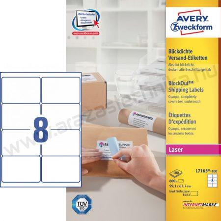 99,1 x 67,7mm fehér csomag címke / Avery L7165-100