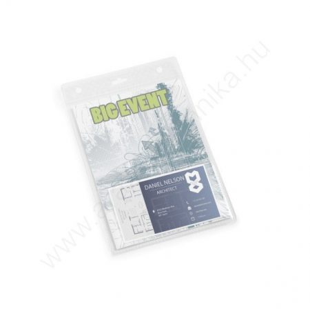 NAME BADGE A6 kártyatartó + névjegytartó zseb (8526-19) 20db/csom