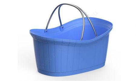 Elite - elegáns kézi bevásárló kosár 12l - kék