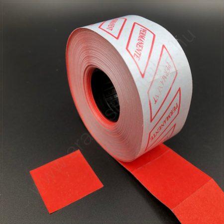 29x28mm  piros árazócímke (700db/tek)