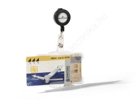Biztonsági kártyatartó DUO - nyitott (8219) kihúzható tartóval