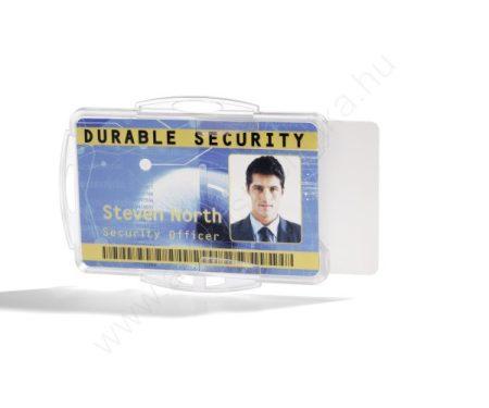 Biztonsági kártyatartó DUO - nyitott áttetsző (8919-19)