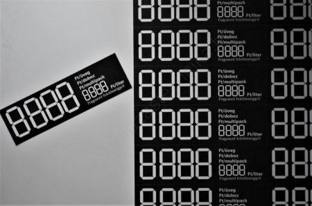 Digitális  öntapadós etikett 103×31mm ( 12 db/ív) FEKETE