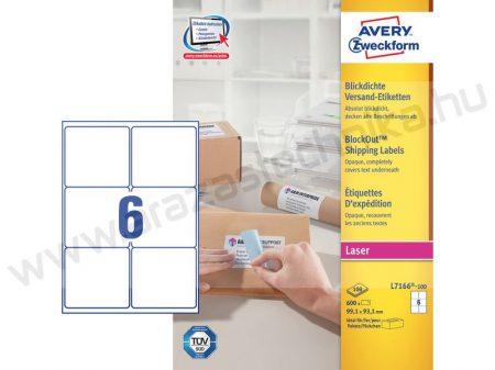 99,1 x 93,1 mm fehér csomag címke (Avery L7166-100)