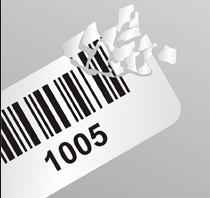 DESTRUKTÍV PE címke 30×10mm (1000db/tek)