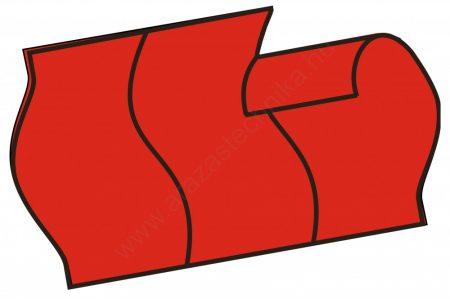 26x16mm eredeti piros árcímke - biztonsági bevágás