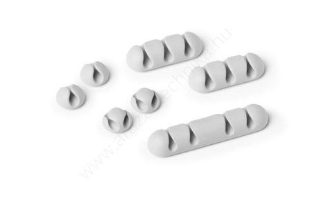 CAVOLINE® CLIP MIX - öntapadó kábelrögzítő klip (7db/csomag) (5041-10) szürke