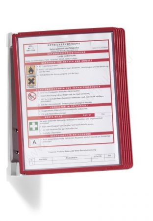Vario® Wall 5db A4  FALI lapozó (5551-03) piros