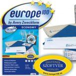 A4 íves címke - Europe 100 etikett papír címke