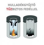 Tűzbiztos hulladékgyűjtő