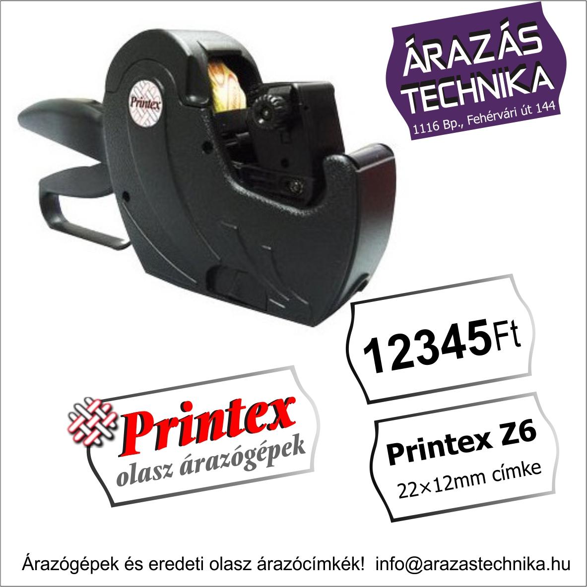 Printex Z6 árazógép