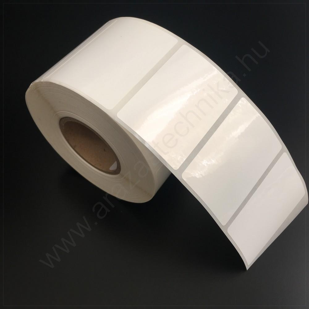 6afac0d132 60×40 mm PP WHITE - műanyag öntapadós címke (1.000db/tek) - ÁRAZÓGÉP ...
